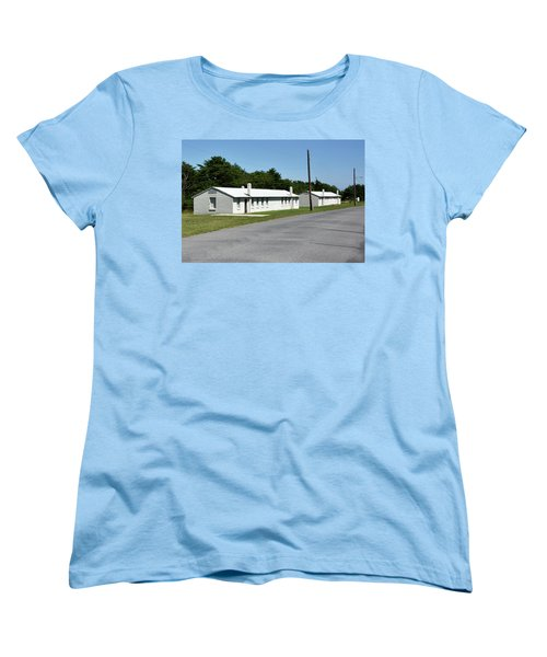 Women's T-Shirt (Standard Cut) featuring the photograph Barracks At Fort Miles - Cape Henlopen State Park by Brendan Reals