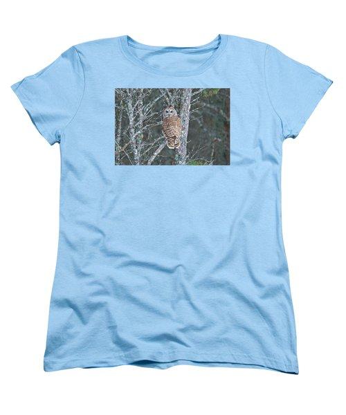 Barred Owl 1396 Women's T-Shirt (Standard Cut) by Michael Peychich