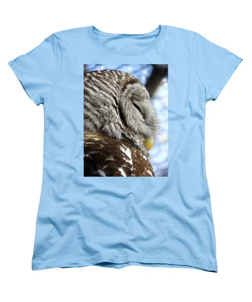 Women's T-Shirt (Standard Cut) featuring the photograph Barred Owl Beauty by Rebecca Overton