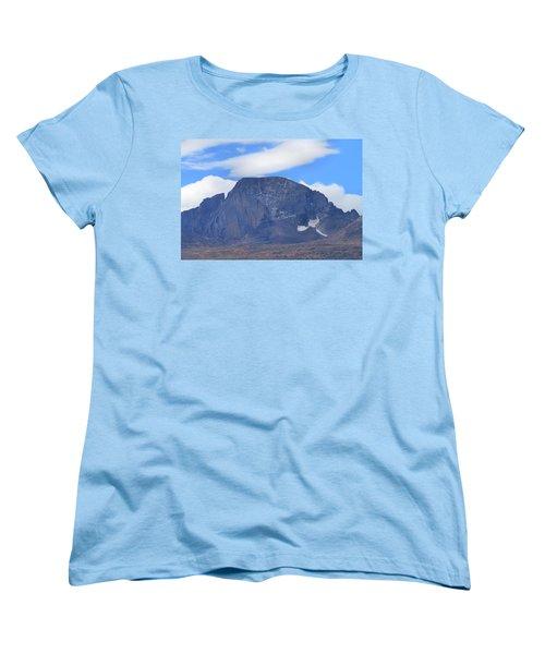 Women's T-Shirt (Standard Cut) featuring the photograph Barren Mountain Landscape Colorado by Dan Sproul