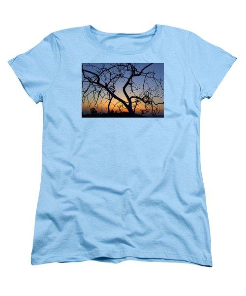 Women's T-Shirt (Standard Cut) featuring the photograph Barren Tree At Sunset by Lori Seaman