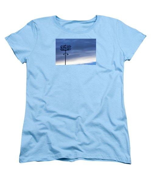Women's T-Shirt (Standard Cut) featuring the photograph Baseball Lights by Joan Bertucci