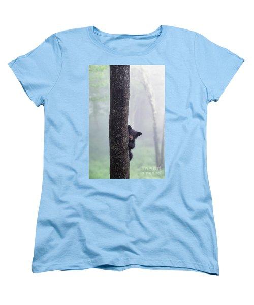 Bashful Bear Cub - Fs000230 Women's T-Shirt (Standard Cut) by Daniel Dempster
