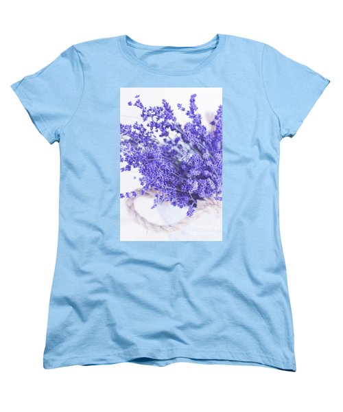 Basket Of Lavender Women's T-Shirt (Standard Cut) by Stephanie Frey