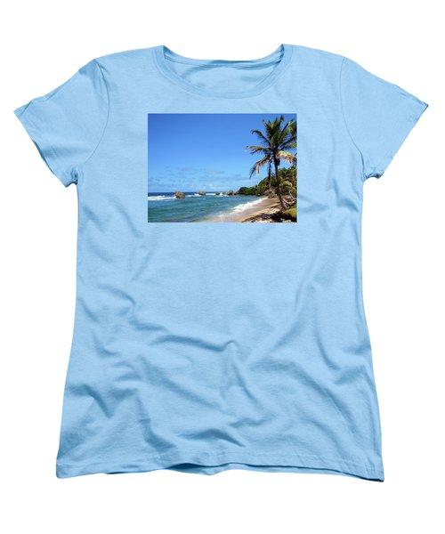 Women's T-Shirt (Standard Cut) featuring the photograph Bathsheba, Barbados, by Kurt Van Wagner