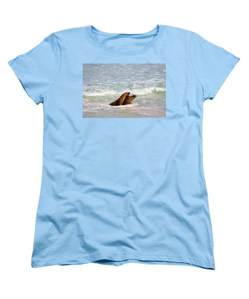 Battle For The Beach Women's T-Shirt (Standard Cut) by Mike  Dawson