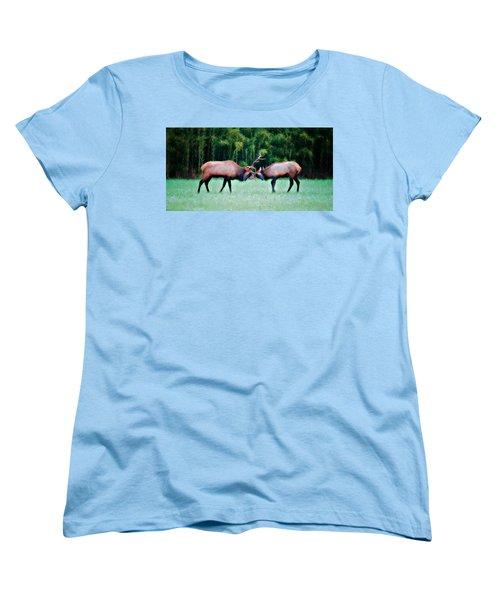 Battling Bulls Women's T-Shirt (Standard Cut) by Lana Trussell