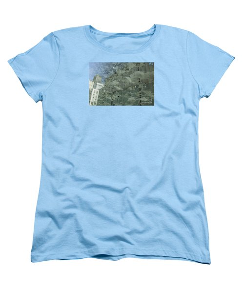 Women's T-Shirt (Standard Cut) featuring the photograph Bay City Reflections by Jeanette French