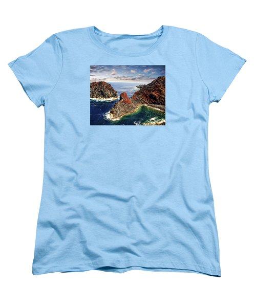 Bay Of Ponta Da Barca Women's T-Shirt (Standard Cut) by Anthony Dezenzio