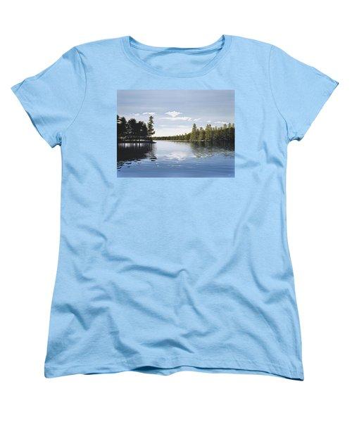 Bay On Lake Muskoka Women's T-Shirt (Standard Cut) by Kenneth M  Kirsch