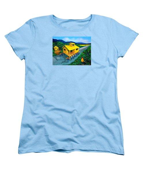 Bayanihan Women's T-Shirt (Standard Cut) by Cyril Maza