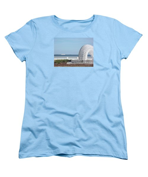 Bayshore Boulevard Sculpture Women's T-Shirt (Standard Cut) by Gail Kent