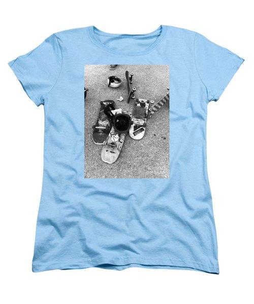 Bored Boards Women's T-Shirt (Standard Cut) by WaLdEmAr BoRrErO