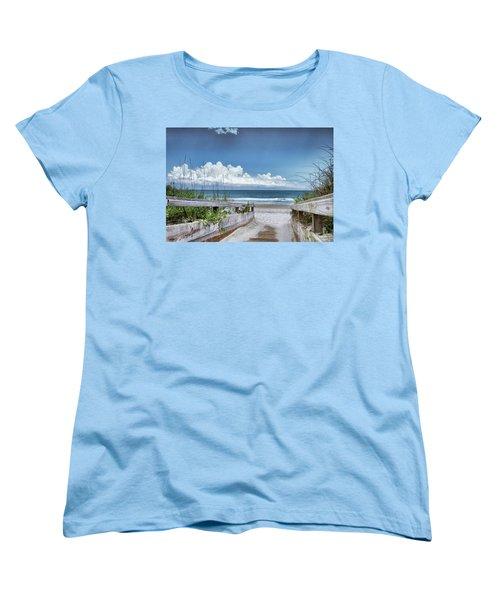 Beach Access Women's T-Shirt (Standard Cut) by Phil Mancuso