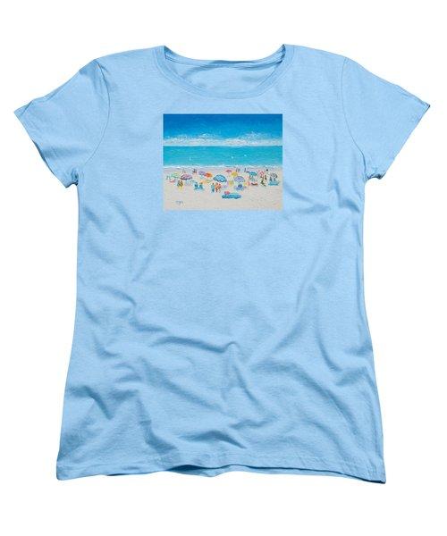 Beach Art - Fun In The Sun Women's T-Shirt (Standard Cut) by Jan Matson