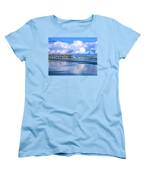 Beach At Isle Of Palms Women's T-Shirt (Standard Cut) by Dominic Piperata