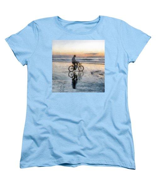 Beach Biker Women's T-Shirt (Standard Cut) by Francesa Miller