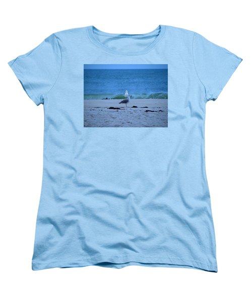 Women's T-Shirt (Standard Cut) featuring the photograph Beach Birds by  Newwwman