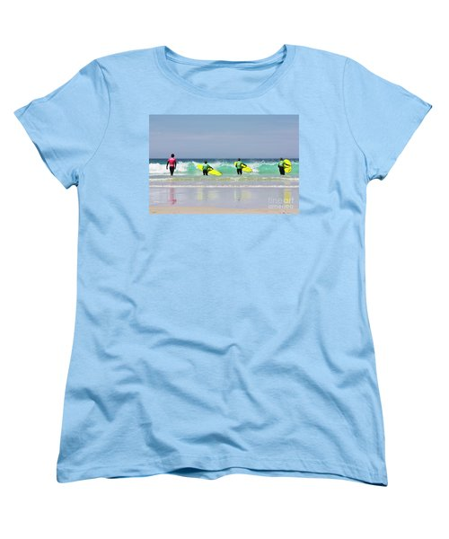 Women's T-Shirt (Standard Cut) featuring the photograph Beach Boys Go Surfing by Terri Waters