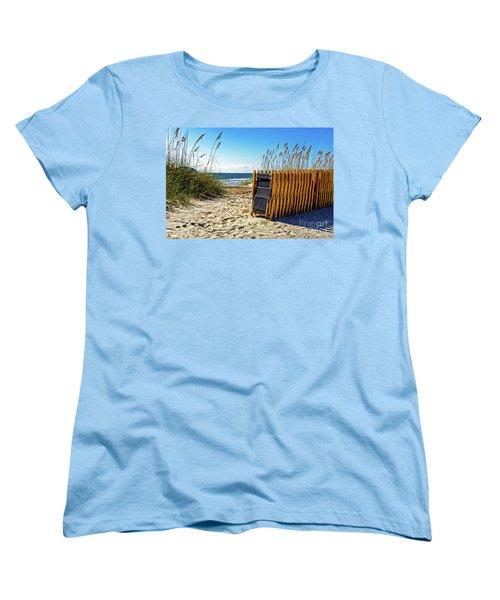 Beach Chairs Women's T-Shirt (Standard Cut) by Paul Mashburn