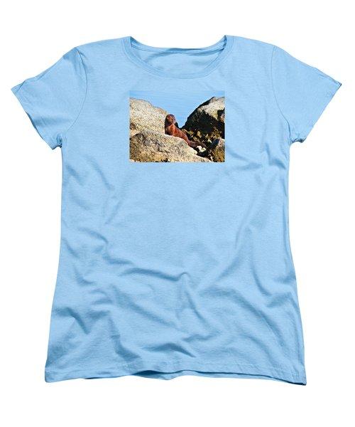 Beachcomber Women's T-Shirt (Standard Cut) by Laura Ragland
