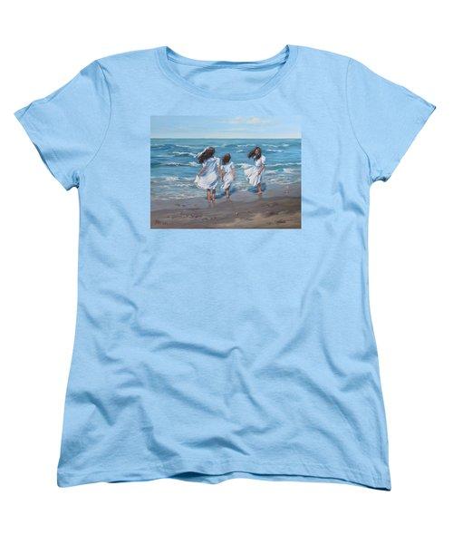 Women's T-Shirt (Standard Cut) featuring the painting Beach Day by Karen Ilari