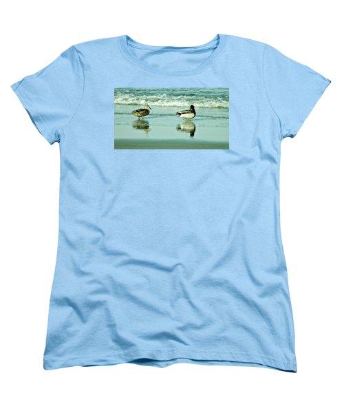 Beach Ducks Women's T-Shirt (Standard Cut) by John Wartman