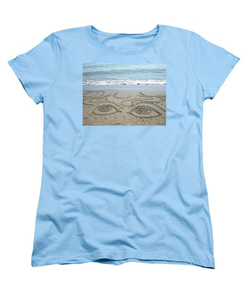 Beach Eyes Women's T-Shirt (Standard Cut) by Kim Prowse