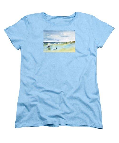 Beach Fishing Women's T-Shirt (Standard Cut) by Frank Bright
