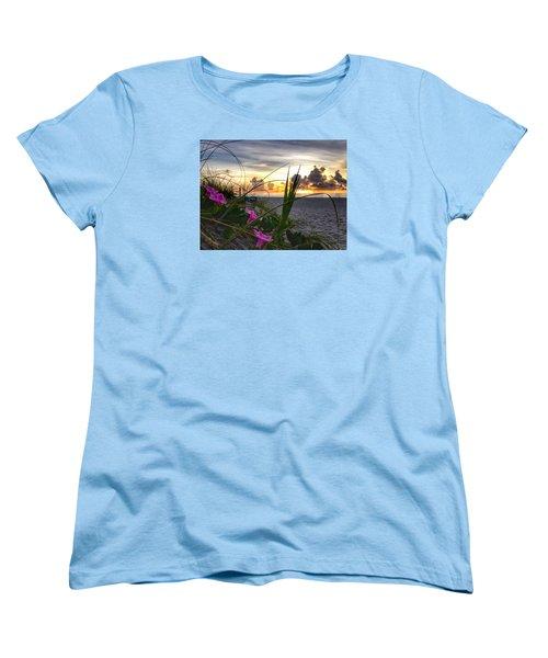 Beach Flowers Women's T-Shirt (Standard Cut)