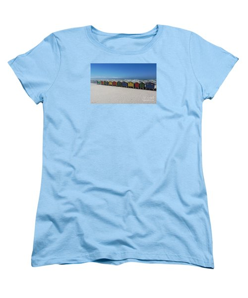 Beach Houses Women's T-Shirt (Standard Cut) by Bev Conover