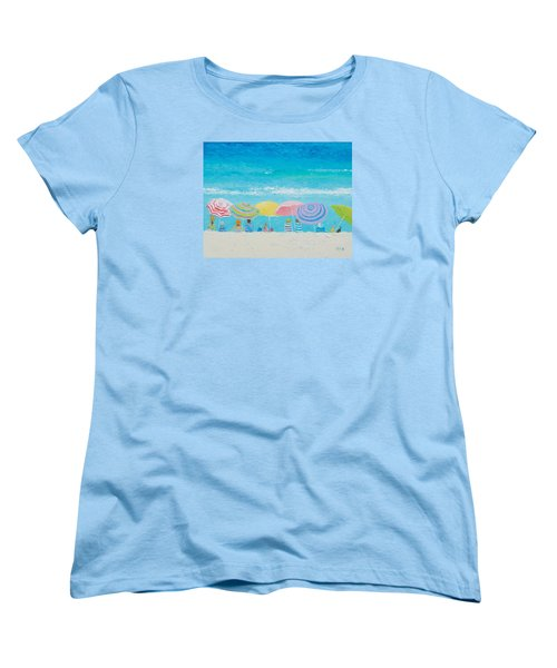 Beach Painting - Color Of Summer Women's T-Shirt (Standard Cut) by Jan Matson