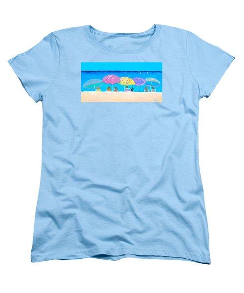 Beach Sands Perfect Tans Women's T-Shirt (Standard Cut) by Jan Matson