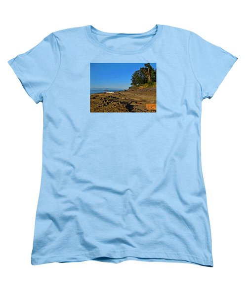 Beach Scene, Berry Point, Gabriola, Bc Women's T-Shirt (Standard Cut) by Anne Havard