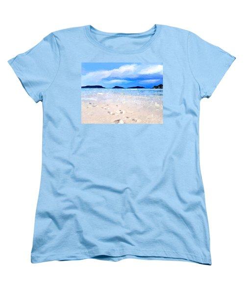 Beach Walk Women's T-Shirt (Standard Cut) by Anthony Fishburne
