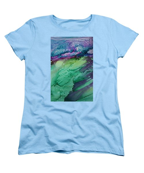 Beachfroth Women's T-Shirt (Standard Cut) by Ruth Kamenev