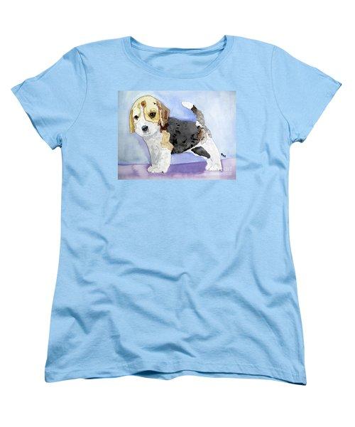 Beagle Pup Women's T-Shirt (Standard Cut) by Sandy McIntire