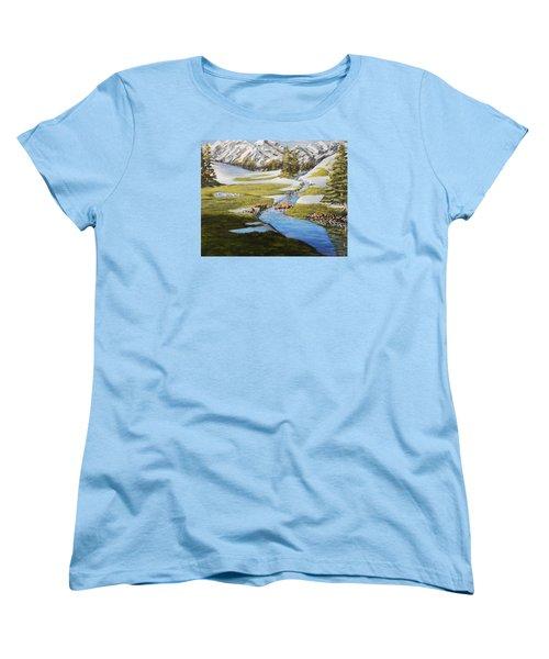 Bear Crossing Women's T-Shirt (Standard Cut) by Ruanna Sion Shadd a'Dann'l Yoder