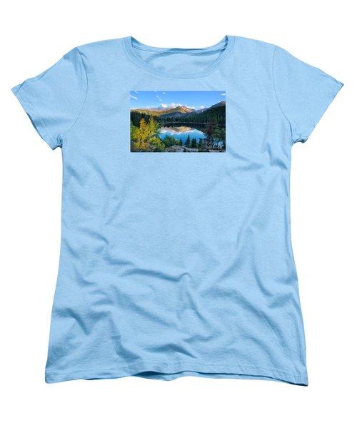 Bear Lake Reflection Women's T-Shirt (Standard Cut) by Ronda Kimbrow