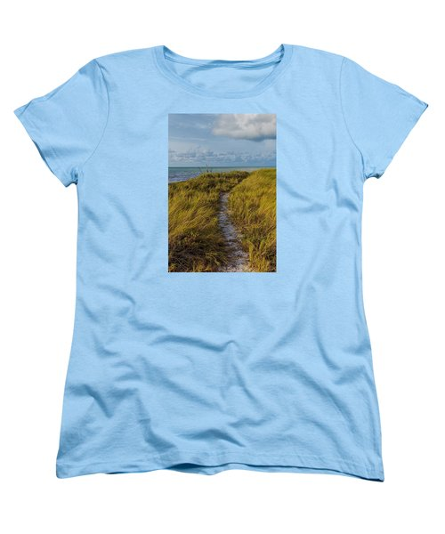 Beaten Path Women's T-Shirt (Standard Cut) by Swank Photography