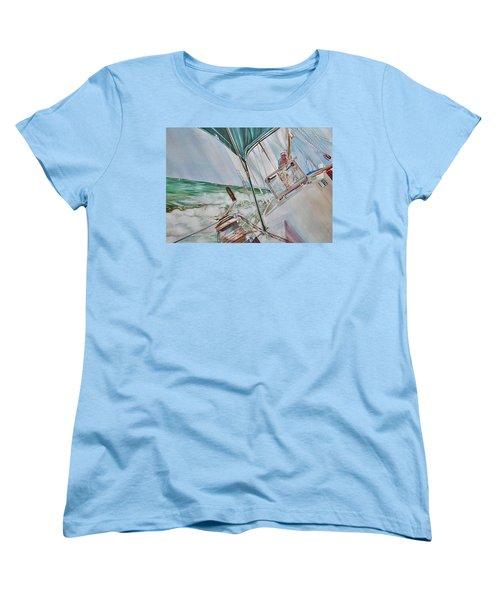 Beating Windward Women's T-Shirt (Standard Cut) by P Anthony Visco
