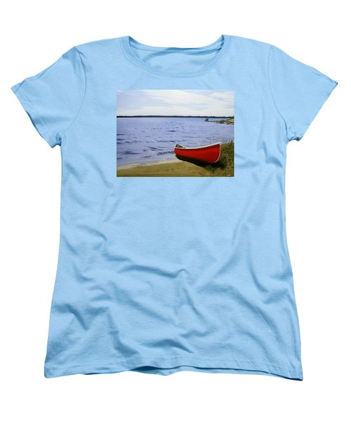Beaultiful Red Canoe Women's T-Shirt (Standard Cut) by Kenneth M  Kirsch