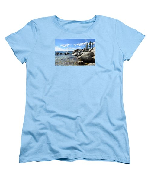 Beautiful Day At Lake Tahoe Women's T-Shirt (Standard Cut) by Alex King