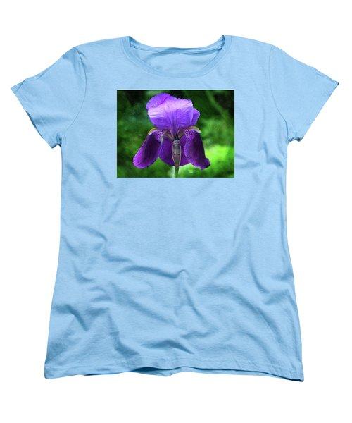 Beautiful Iris With Texture Women's T-Shirt (Standard Cut) by Trina Ansel