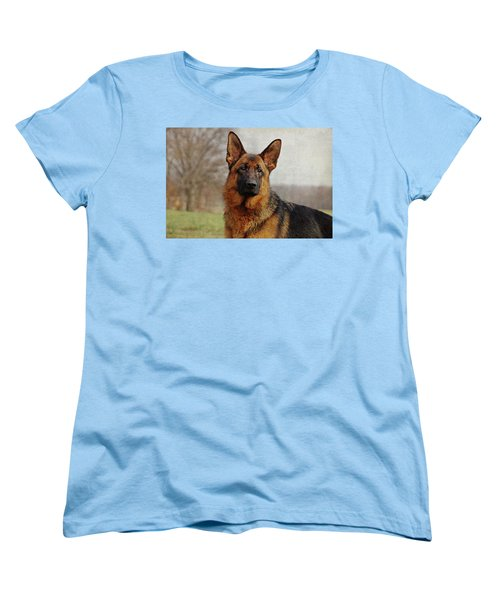 Women's T-Shirt (Standard Cut) featuring the photograph Beautiful Raven by Sandy Keeton