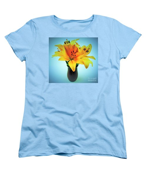 Women's T-Shirt (Standard Cut) featuring the photograph Beautiful Royal Lilies  by Ray Shrewsberry