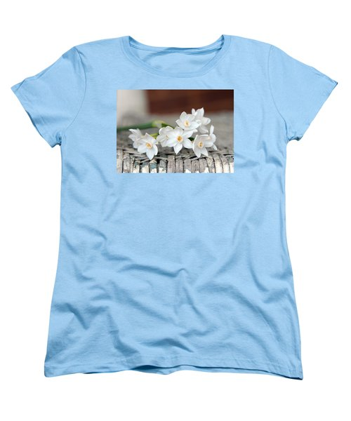Beautiful Spring Paperwhites Women's T-Shirt (Standard Cut) by Carla Parris