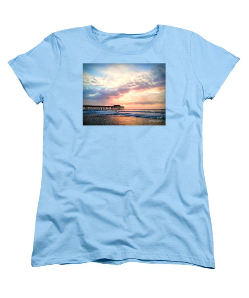 Beautiful Sunrise In Myrtle Beach South Carolina Usa Women's T-Shirt (Standard Cut) by Vizual Studio