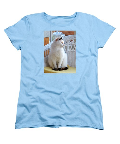 Women's T-Shirt (Standard Cut) featuring the photograph Beauty In White by Phyllis Kaltenbach