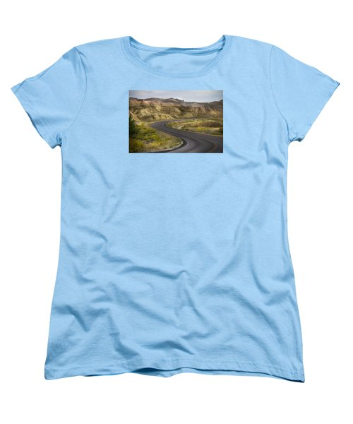 Women's T-Shirt (Standard Cut) featuring the photograph Beauty Of The Badlands South Dakota by John Hix